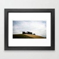House on the Hills Framed Art Print