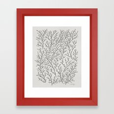 Berry Branches – Silve… Framed Art Print