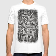 Prevail  White SMALL Mens Fitted Tee
