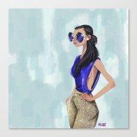 Blue chic  Canvas Print