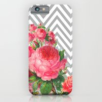 iPhone & iPod Case featuring FLORAL CHEVRON by Allyson Johnson