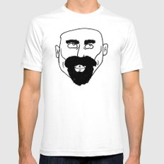 beard Mens Fitted Tee White SMALL
