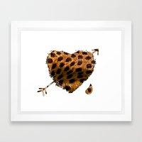 CHEETING HEART Framed Art Print