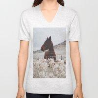 Snowy Horse Unisex V-Neck