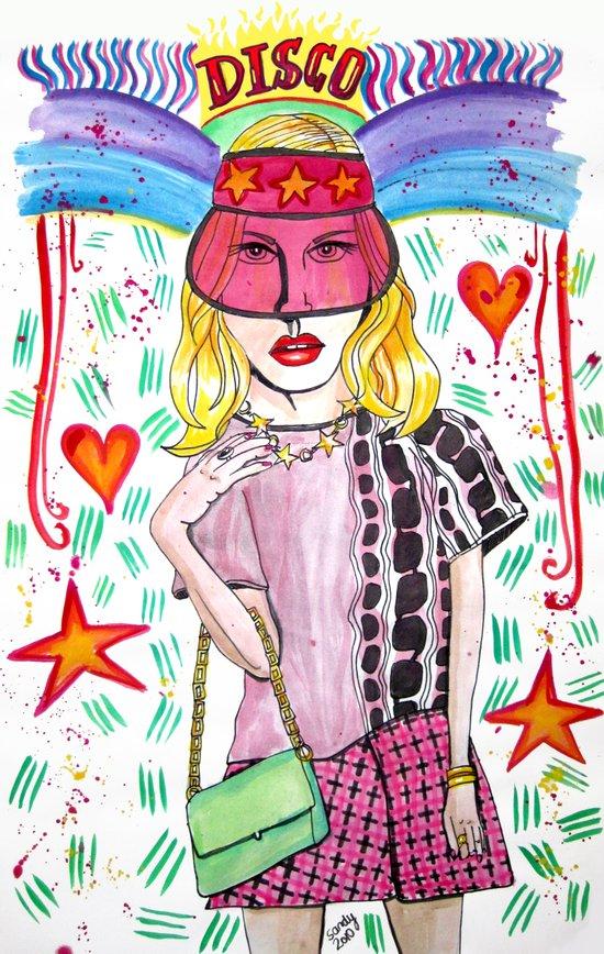 Zircon Princess Art Print
