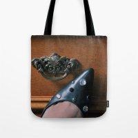 Rhinestoned Left Shoe Tote Bag