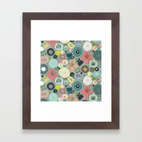 Oriental Blooms Framed Art Print