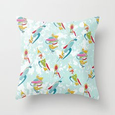 Abstracted Rockets Remix Throw Pillow