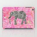 Pink Safari | Tribal Paisley Elephant Henna Pattern iPad Case