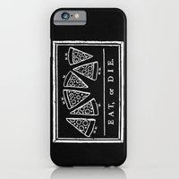 iPhone Cases featuring Eat, or Die (black) by jublin