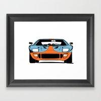 GT40 - Gulf Livery Framed Art Print