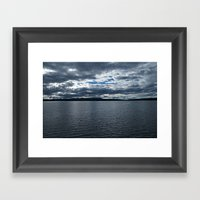 Clouds Over Yellowstone Lake Framed Art Print