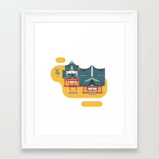 Kyoto icon Framed Art Print