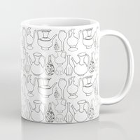 Persian Pots (b&w) Mug