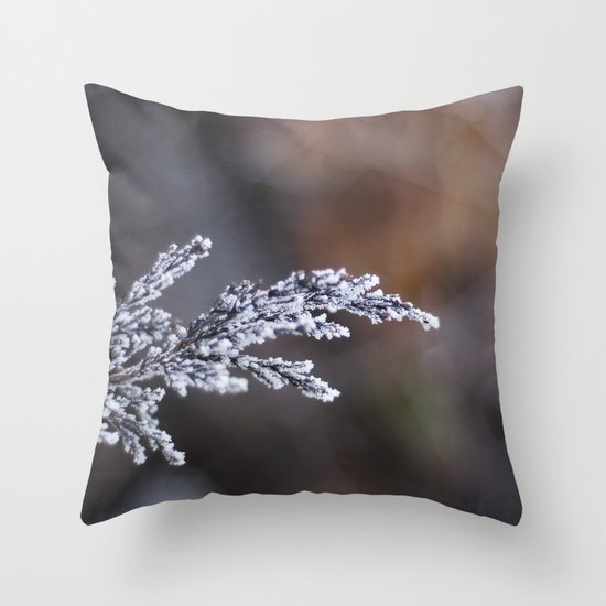 Frosted Juniper Throw Pillow
