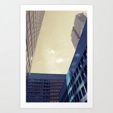 looking up in toronto... Art Print