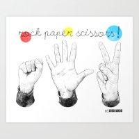 Rock Paper Scissors Art Print