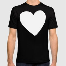 Mint Heart Mens Fitted Tee SMALL Black