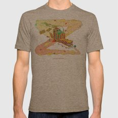 The Lotus Eater. Mens Fitted Tee Tri-Coffee SMALL