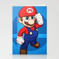 mario Stationery Cards featuring Mario by Ryan Ketley
