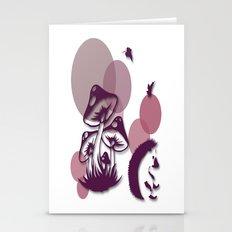 Mushroom And Hedgehog No. 1 Stationery Cards