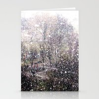 Snow In Early Fall(1)  Stationery Cards