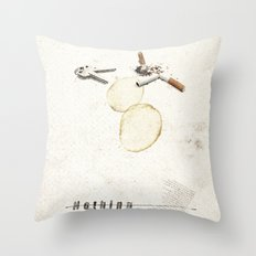 Nothing (...) | Collage Throw Pillow