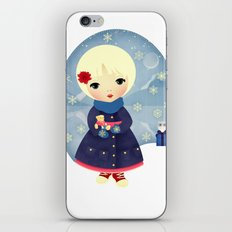 Rosy Snowflakes iPhone & iPod Skin