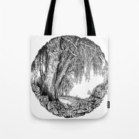 Tree And Flowers Tote Bag