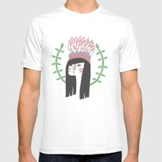 Wingapo SMALL White Mens Fitted Tee