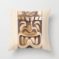 Happy Tiki Throw Pillow