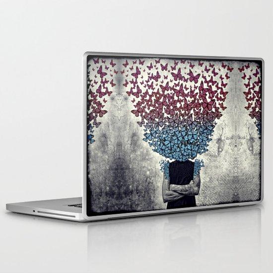 Butterflies In my head. Laptop & iPad Skin