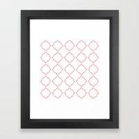 Moroccan Coral Framed Art Print