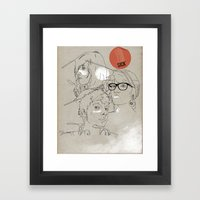 Procrastinate Framed Art Print