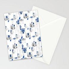 Robot Girl Cubism Stationery Cards