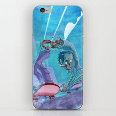Zombies and Skateboards iPhone & iPod Skin
