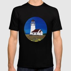 Cape Blanco lighthouse/ Oregon Mens Fitted Tee Black SMALL