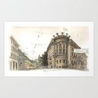 Basel Sketchbook Art Print