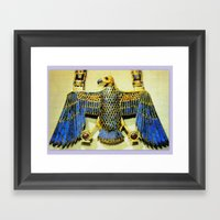 Gold Necklace with Vulture Pendant Framed Art Print