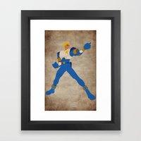 Commanding Captain (Captain Commando) Framed Art Print