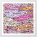 A seamless pattern with leaf. Art Print