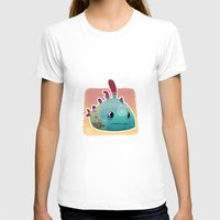 Exotic Fish Womens Fitted Tee White SMALL