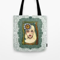 snakes and sunflower girl Tote Bag