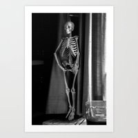 The Skeleton By The Prin… Art Print