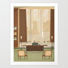 Mad Men - Don Draper's O… Art Print