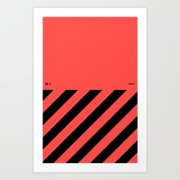 Infrared Lines / Black Art Print