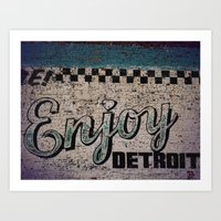 Enjoy Detroit Art Print