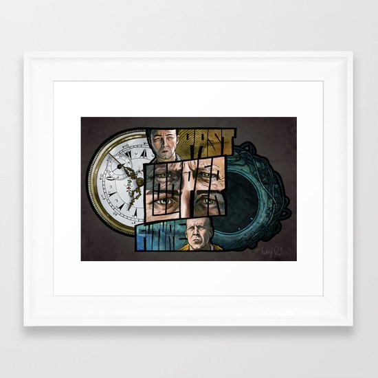 LOOPER // Past/Future Framed Art Print