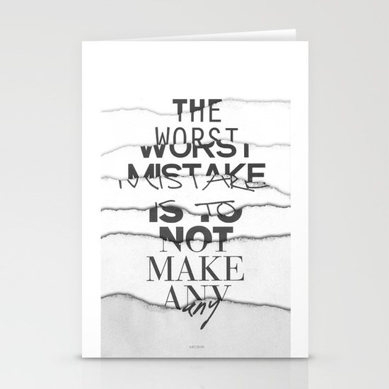 The Worst Mistake Stationery Card