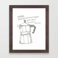 Coffee V. Crack Framed Art Print